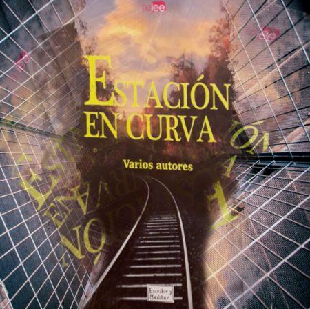 Portadas del libro Estación en curva cayendo en un abismo de un edificio