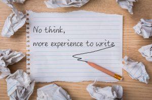 Cuando no pensamos la escritura puede que las palabras no fluyan , o sí